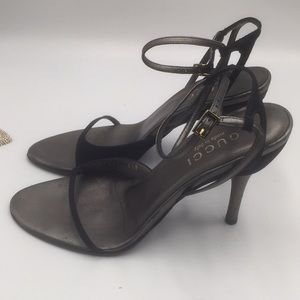 GUCCI SHOES BLACK WITH STILETTO HEELS SIZE36 1/2